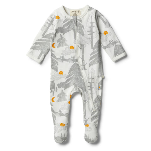 Wilson & Frenchy Organic Little Wander Zipsuit front
