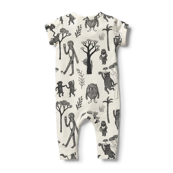 Wilson & Frenchy Organic Short Sleeve Wild Zipsuit back