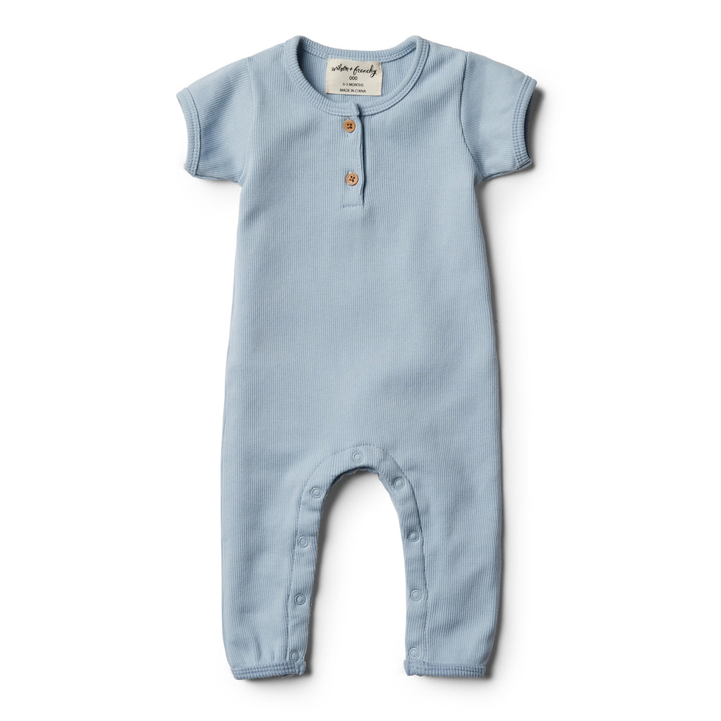 Wilson & Frenchy Dusty Blue Growsuit