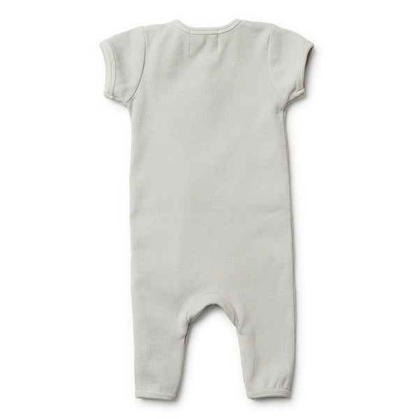 Wilson and Frenchy Glacier Grey Growsuit back