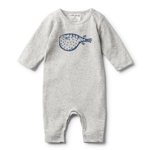 Wilson and Frenchy Little Puff Long Sleeve Growsuit Front