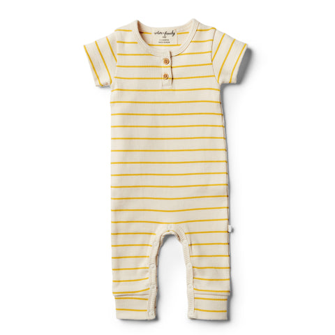 Wilson and Frenchy Organic Jojoba Stripe Growsuit