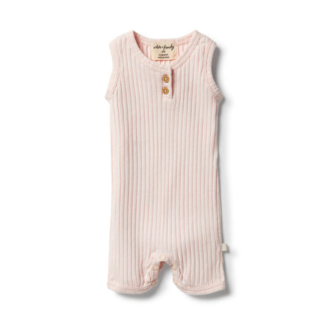 Wilson & Frenchy Organic Rib Growsuit - Angel front