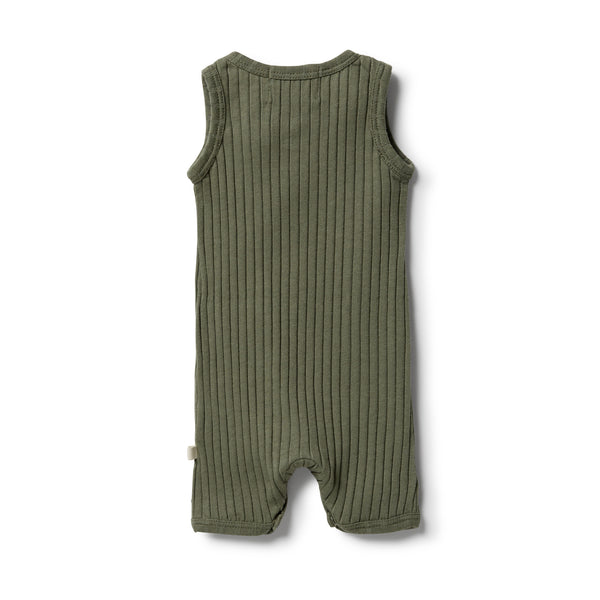 Wilson & Frenchy Organic Rib Growsuit - Fern back