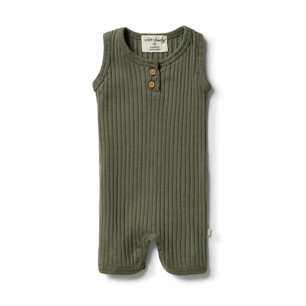 Wilson & Frenchy Organic Rib Growsuit - Fern front