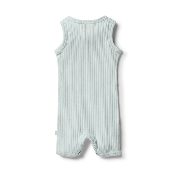 Wilson & Frenchy Organic Rib Growsuit - Morning Mist back