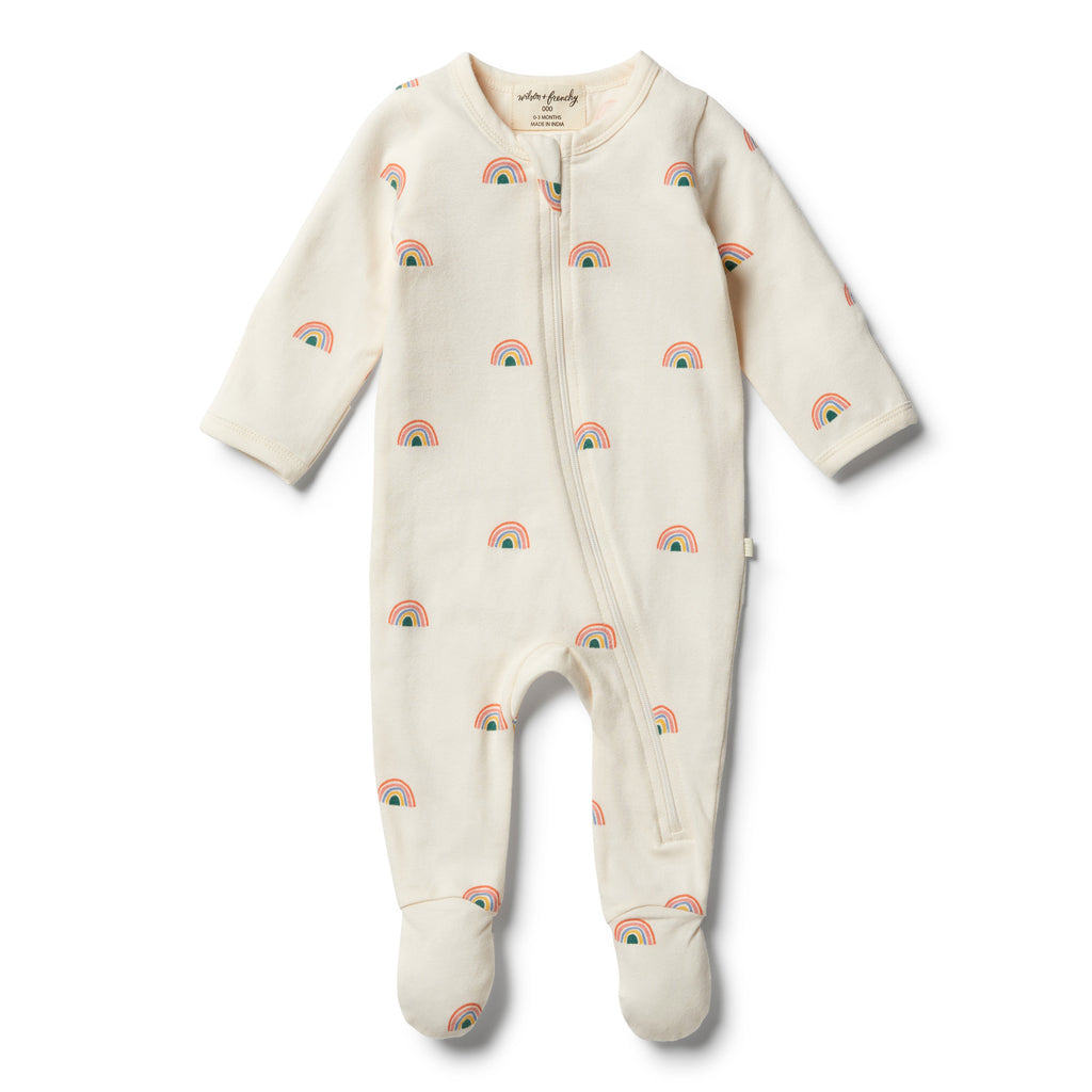 Wilson & Frenchy Organic Sing a Rainbow Zipsuit front