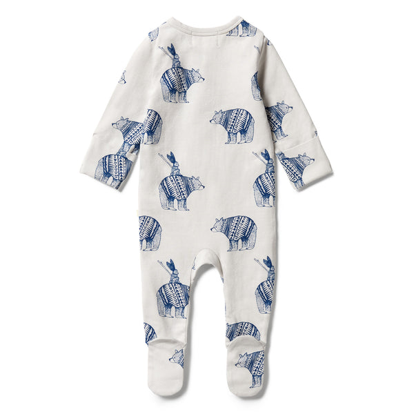 Wilson & Frenchy Organic Zipsuit - Little Adventures back
