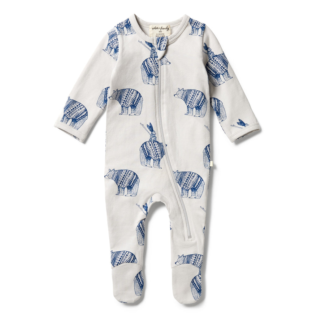 Wilson & Frenchy Organic Zipsuit - Little Adventures front