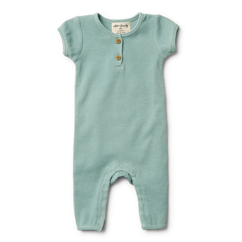 Wilson and Frenchy Sage Rib Growsuit front