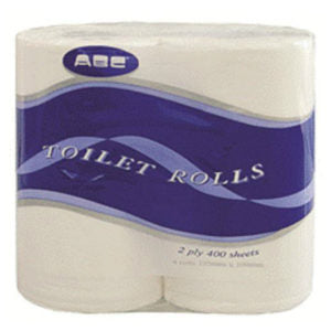 ABC Deluxe 2 ply 400 sheet pack 48 - Recycled