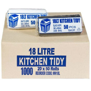 18L Kitchen Tidy Bag White Carton 1000
