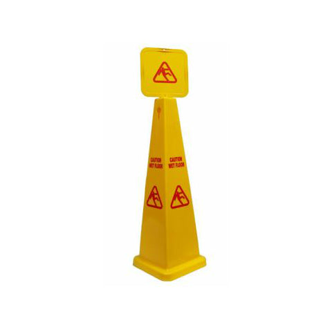 Wet Floor Caution Cone Sign