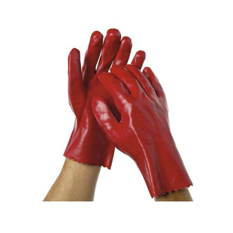 Glove Red PVC Liquid Resistant