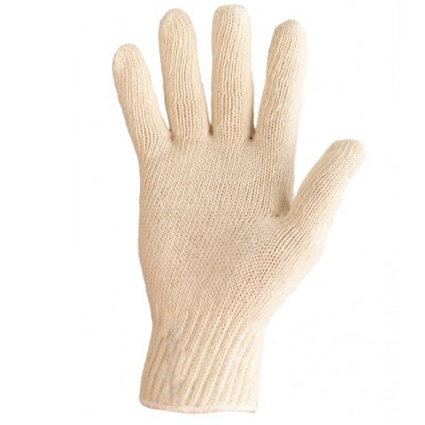 Knit Polycotton Glove Medium Pkt 12