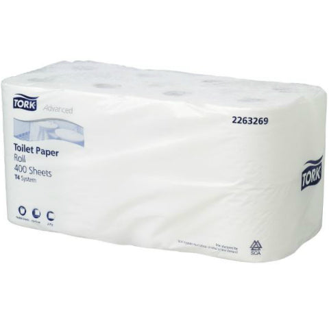Tork 2 Ply 400 Sheet Unwrapped Carton 3 x 16 rolls
