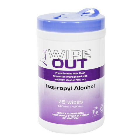Wipe Out Iso Propyl 75 wipes