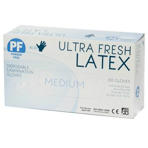 Latex Blue Powder Free Box 100