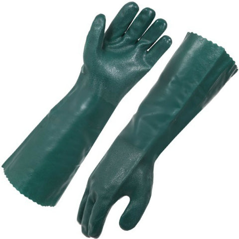Green Double Dip PVC Glove 45cm
