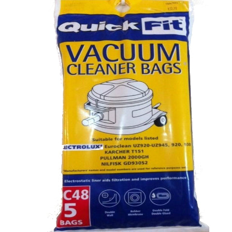Disposable Bag to Fit Electrolux Euroclean Vac Packet 5