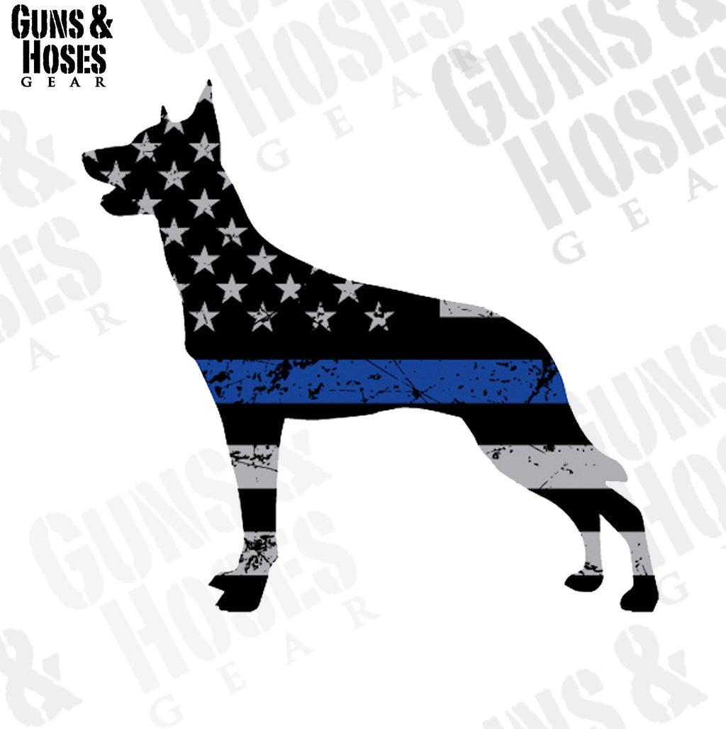 Police K-9 Sticker Decal (Belgian Malinois)