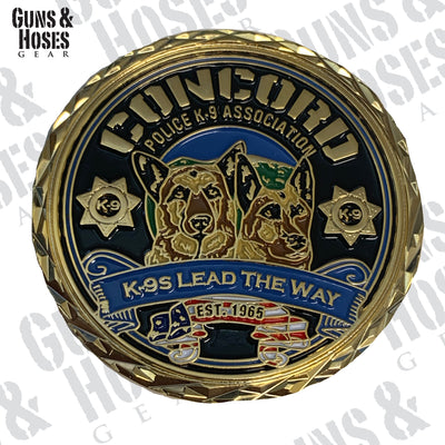 Concord Police K-9 Challenge Coin