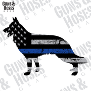 Police K-9 Sticker Decal (German Shepherd)