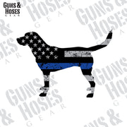 Police K-9 Sticker Decal (Labrador Retriever)