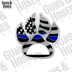 Police K-9 Paw Bottle Opener Coin