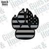 Police K9 Paw Flag Sticker