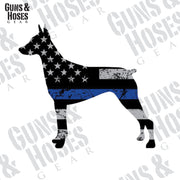 Police K-9 Sticker Decal (Doberman Pinscher)