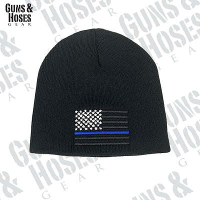 USA Flag Embroidered Beanie