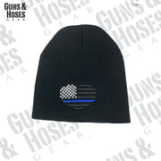 USA Flag Heart Embroidered Beanie