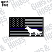 US Flag Dog Sticker
