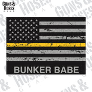 USA Flag Gold Line Bunker (Dispatcher) Sticker Decal