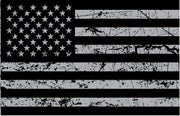 USA Flag Grey Distressed Sticker Decal