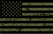 OD Green USA Flag Sticker Decal