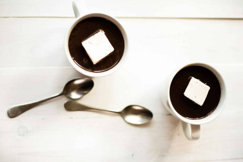 2 cups of hot chocolate