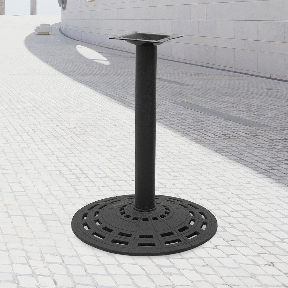 2903 Series Cast Iron Round Table Base #color_Black #base size_22''