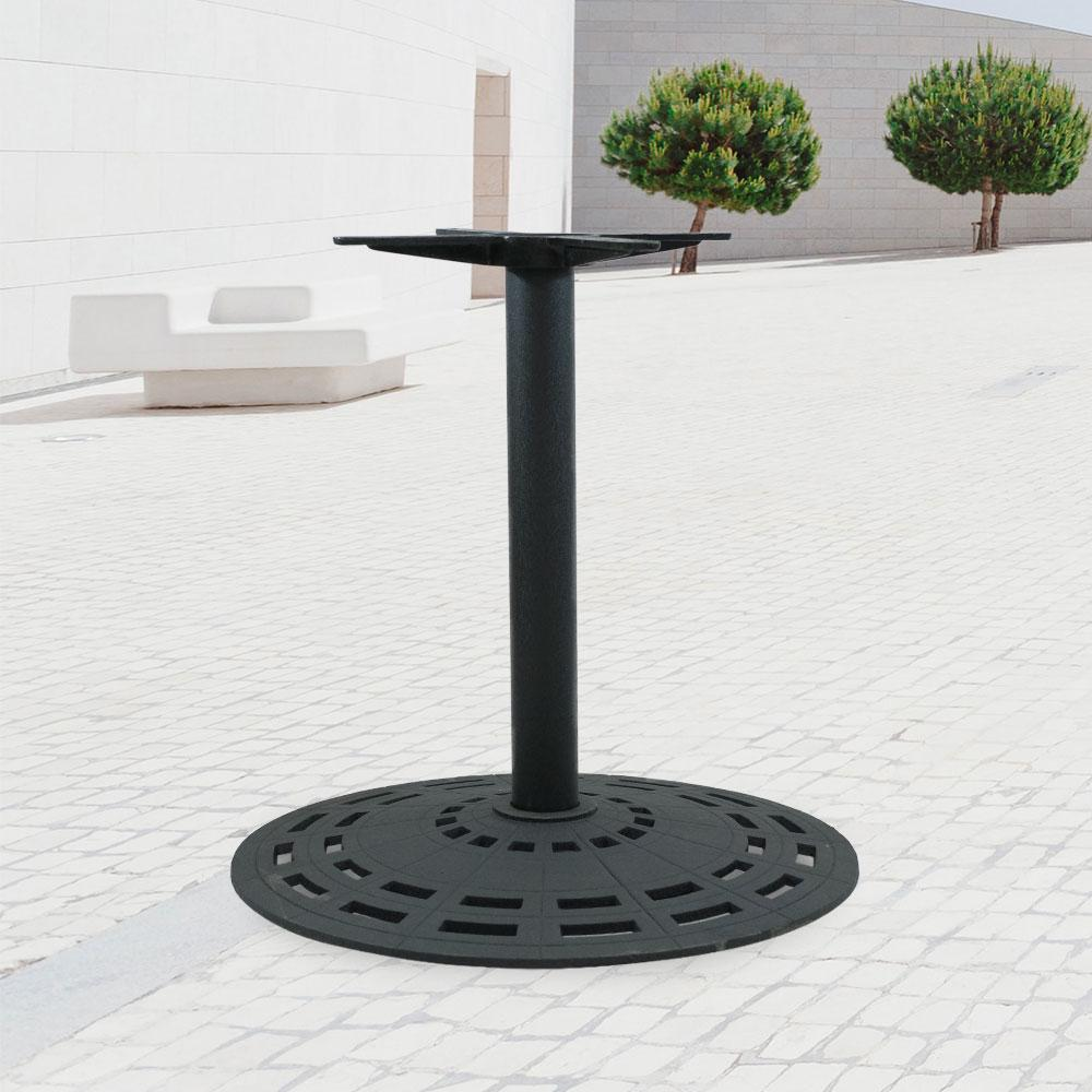 2903 Series Cast Iron Round Table Base #color_Black #base size_28''