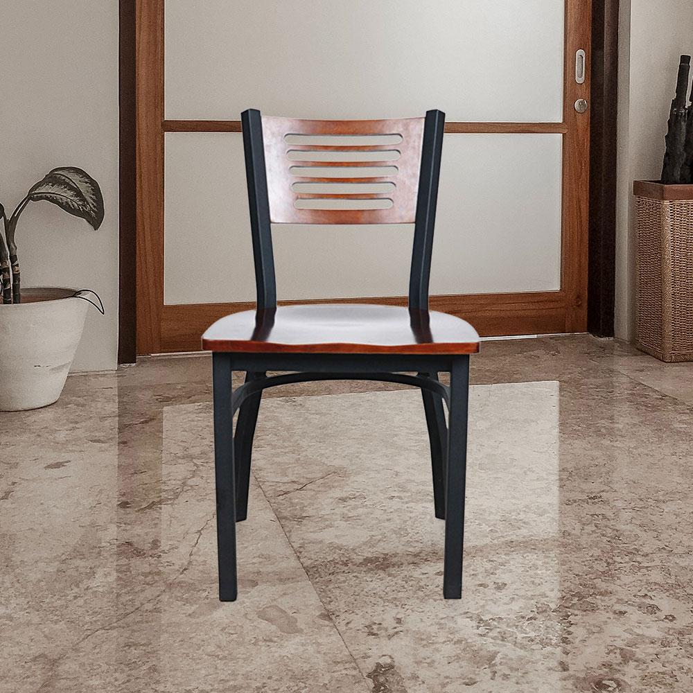 Hospitality 650 Metal Chair #color_Black