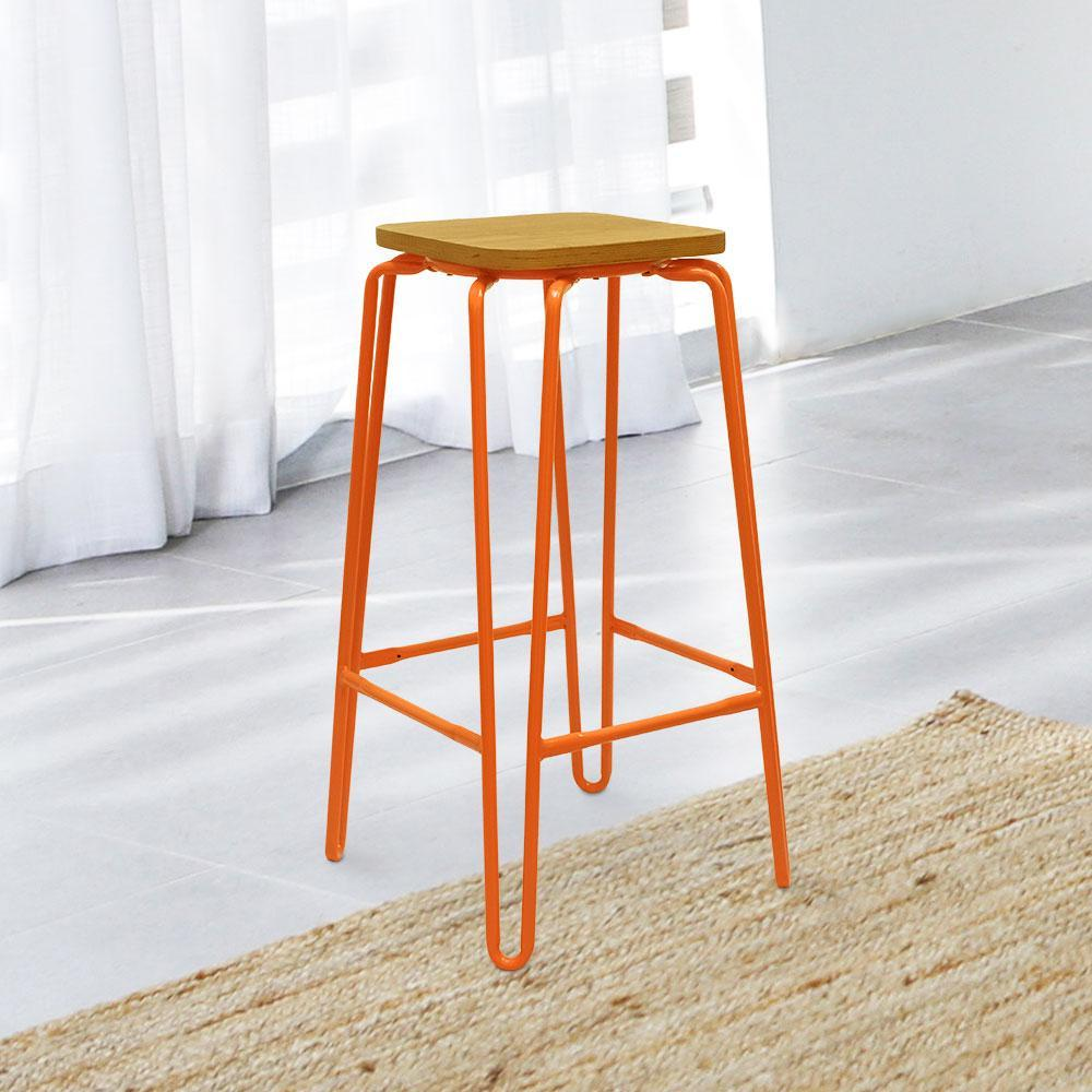 "Heritage 30"" Bar Stool #color_Orange"