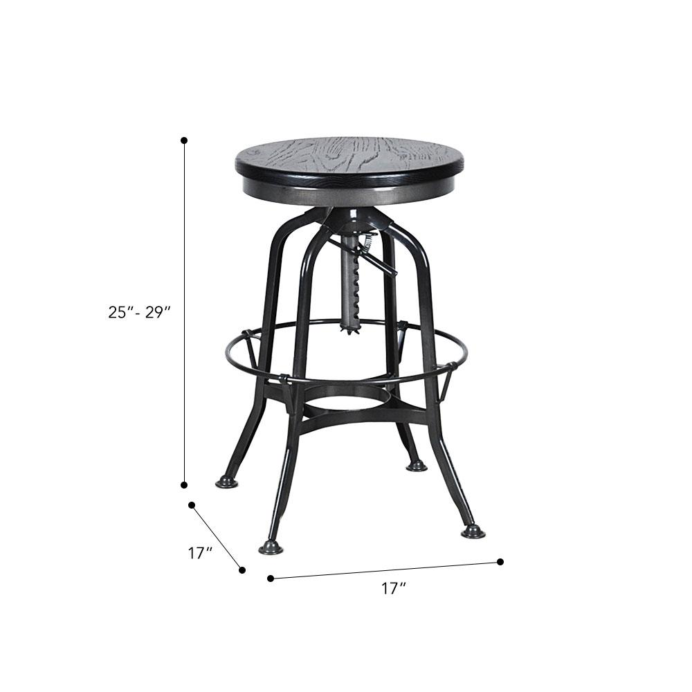 Toledo Bar Stool #color_Black/Black