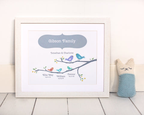 Papier Prints Mothers Day Gift Print Personalised Family Print-A Beautiful New Baby Gift