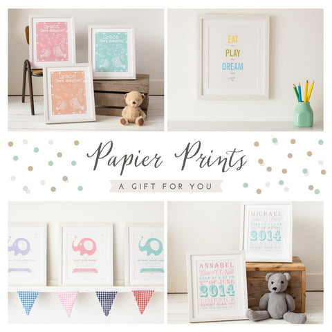 Papier Prints Personalised Prints Gift Voucher