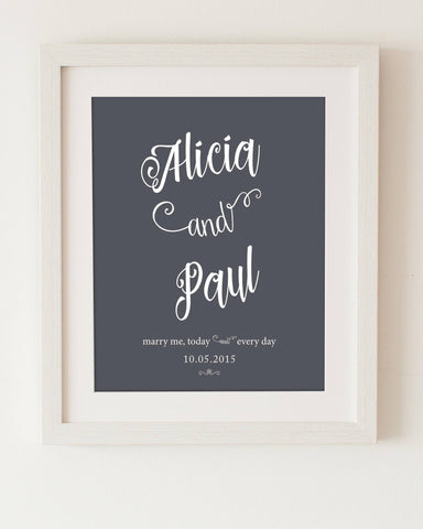 Love Flourished-Personalised Wedding & Engagement Print