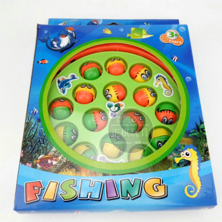 Electric fishing toys, children's puzzle toys, fishing table toys, desktop games, parent-child early education