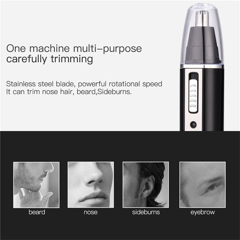 4 in 1 Professional Electric Rechargeable Nose and Ear Hair Trimmer Shaver Temple Cut For Men Personal Care Tools S36