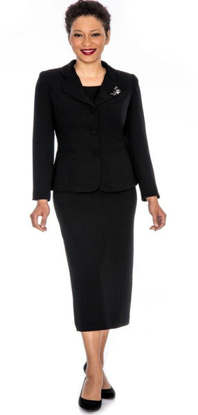 Black Church Usher Suit  (0824)