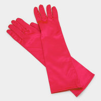 Dressy Long Satin Gloves